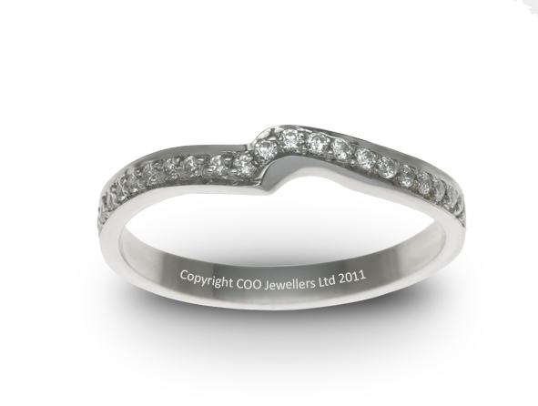 A1003 Shaped Wedding Band