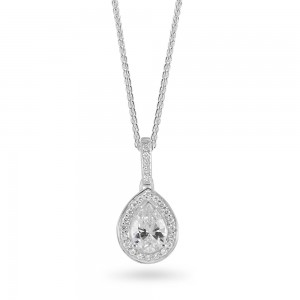 Sterling Silver Cubic Zirconia Pendant ref C026P