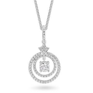 Sterling Silver Cubic Zirconia Pendant ref C028P