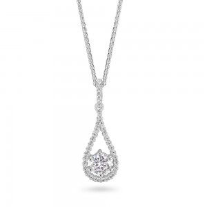 Sterling Silver Cubic Zirconia Pendant C031P