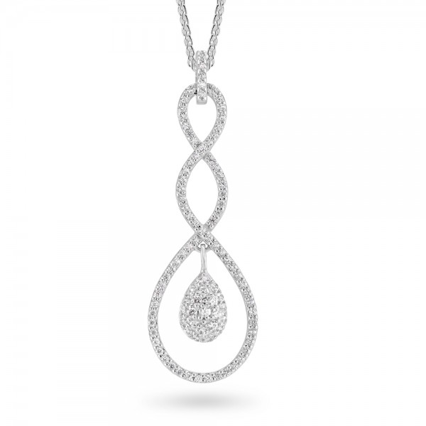 Sterling Silver Cubic Zirconia Pendant C032P