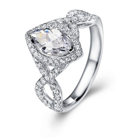 CBDR2971 Marquise Engagement Ring