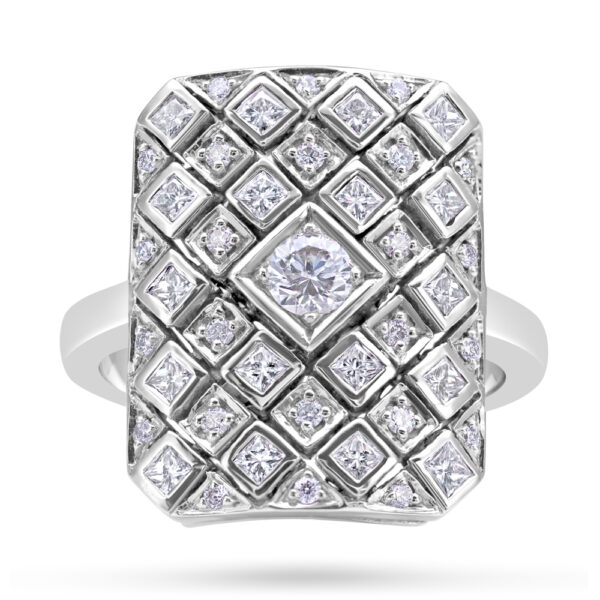 18ct Gold Art Deco Diamond Ring