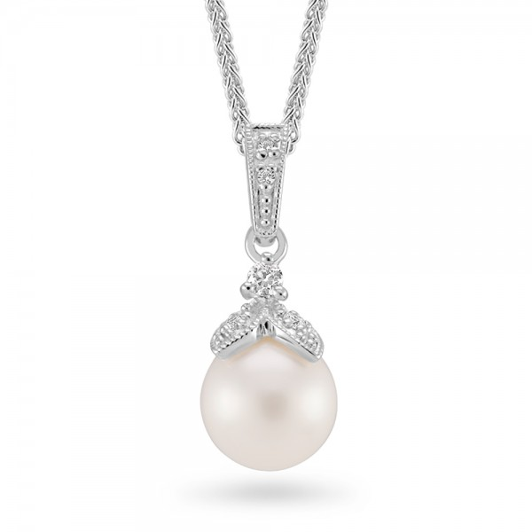 Sterling Silver Freshwater Pearl Drop Pendant