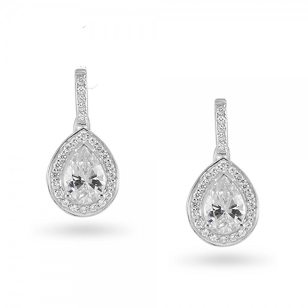 Sterling Silver Cubic Zirconia Earrings ref C027E
