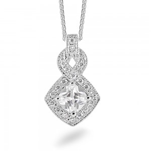 Sterling Silver Cubic Zirconia Pendant C034P