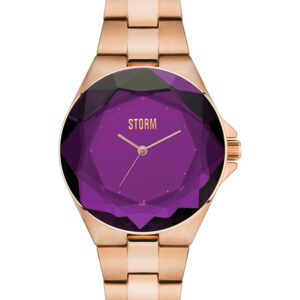 Storm Watch Crystana Rose Gold and Purple