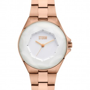 Storm Watch Rose Gold & White