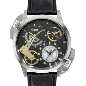 Storm Dualon Leather Watch Black