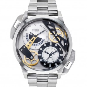 Storm Dualon Metal Watch Silver