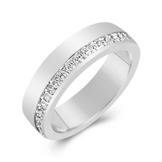Eternity Ring Channel Set Princess Cut Diamonds