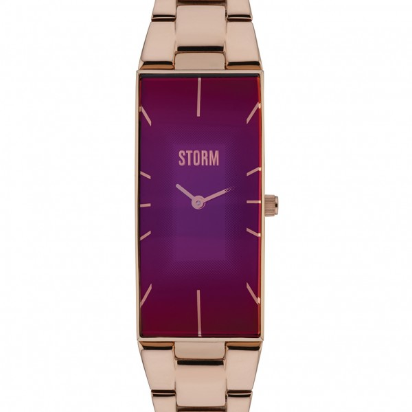 Storm Ixia Watch Rose Gold and Purple