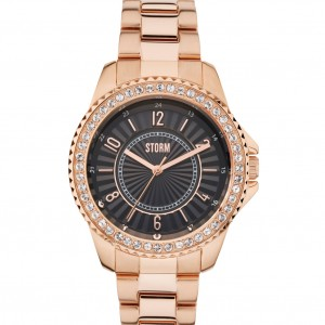Storm Watch Zirona Crystal Rose Gold Black