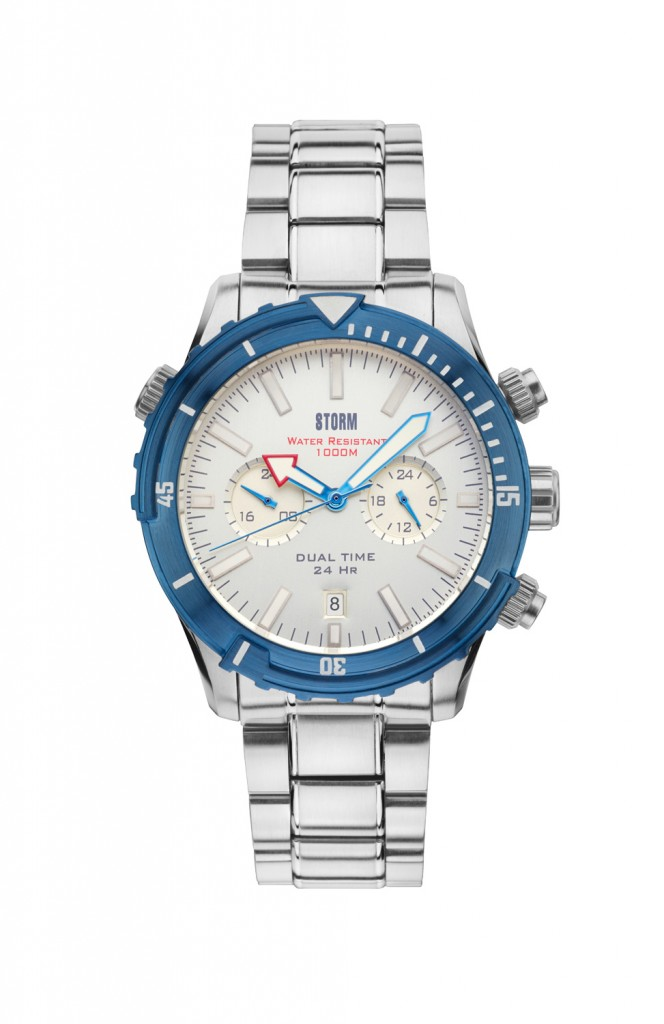 Storm Watch Aqua Pro Silver Blue