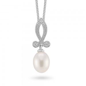 Sterling Silver Freshwater Pearl Pendant ref C036P
