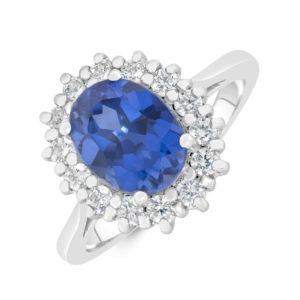 Bespoke Sapphire and Diamond ring